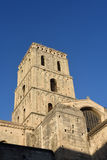 Bell tower of Romanesque Cathedrale Stock Images