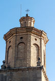 Bell tower of the Romanesque church Stock Image