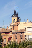 Bell tower of the Romanesque church Stock Images