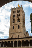 Bell tower of the Romanic church of Benedictine monastery. In Ripoll, Catalonia, Spain Royalty Free Stock Photography
