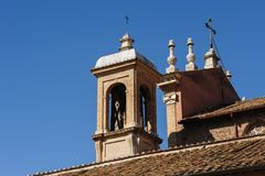 Bell tower in Rome Stock Photos