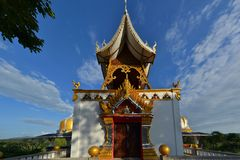 Bell tower in a rural Thai temple, Northern Royalty Free Stock Images