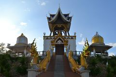 Bell tower in a rural Thai temple, Northern Stock Image
