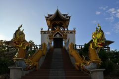 Bell tower in a rural Thai temple, Northern Royalty Free Stock Image
