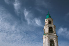 Bell tower of an russian church Royalty Free Stock Image