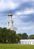 The bell tower, Russian orthodox Yuriev Monastery in Great Novgorod (Veliky Novgorod.) Russia Stock Photo