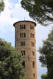 Bell Tower of Saint Apollinare in Classe near Ravenna in Italy Stock Image