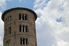 Bell Tower of Saint Apollinare in italy Stock Image