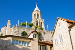 Bell tower of the Saint Domnius Cathedral Royalty Free Stock Photography