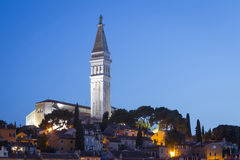 Bell tower of Saint Euphemia at sunset Stock Images