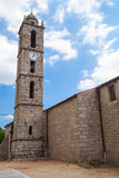 Bell tower of the Saint-Georges church in Quenza Stock Images