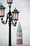 Bell tower of the Saint Giorgio Maggiore Church Stock Images