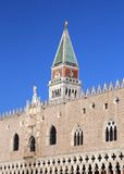 Bell tower of saint mark and Doge s Palace in Venice Stock Image