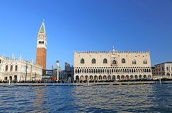 Bell tower Saint Mark and Doge's Palace View from the adriatic s Stock Photos