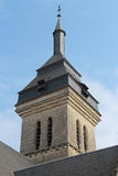 The bell tower of the Saint-Martin church in Luché, France Royalty Free Stock Photos