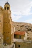 Bell tower of Saint Sabba Monastery near Jerusalem Royalty Free Stock Photos