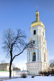 Bell tower of Saint Sophia cathedral in Kiev royalty free stock image
