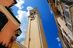 The bell tower of Saint Spyridon Church Royalty Free Stock Images