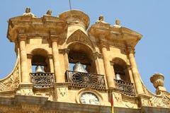 Salamanca Plaza Mayor. Bell tower in Salamanca main square (Spain royalty free stock image