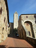 Bell tower of San Gimignano Tuscany Italy Royalty Free Stock Photo