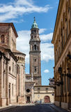 Bell tower of the San Giovanni Evangelista church Royalty Free Stock Images