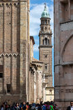 Bell tower of the San Giovanni Evangelista church Royalty Free Stock Photo