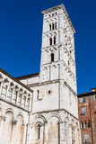 Bell tower of San Michele in Foro Church in Lucca, Tuscany, Ital Stock Photos