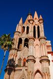 Bell tower, San Miguel de Allende, Mexico. Royalty Free Stock Image