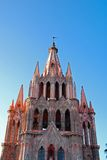 Bell tower, San Miguel de Allende, Mexico. Royalty Free Stock Photography