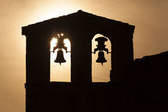 Bell tower of San Tirso, Las Hoces del Duraton Stock Image
