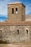 Bell tower of Sant Pere de Casserres Royalty Free Stock Images