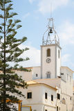 bell tower of Santa Ana Church in Albufeira Stock Images