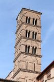 Bell tower of Santa Maria in Cosmedin in Rome Stock Photos