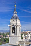 Bell tower of Santa Maria la Real de La Almudena cathedral Stock Photography
