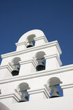 Bell Tower Santorini Style. Bell Tower ,Santorini Style and blue sky royalty free stock photos