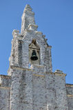 Bell tower of the seaside chapel on the island of La Toja royalty free stock photos