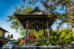 Bell tower in Shirakawa-go Royalty Free Stock Photography
