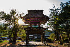 Bell tower in Shirakawa-go Royalty Free Stock Image
