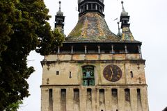 Bell Tower SIghisoara Detail stock image