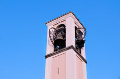 Bell tower. On the sky background Royalty Free Stock Photography