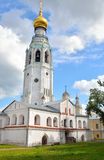 Bell tower of Sophia Cathedral in Vologda. Bell tower of Sophia Cathedral - Orthodox church, now a museum in Vologda, Russia. Erected in 1568 - 1570 years on Stock Image