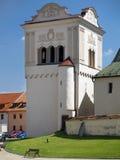 Bell tower in Spisska Sobota, Slovakia stock photo