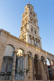 Bell tower in Split, Croatia. Cathedral of Saint Domnius' bell tower at the Diocletian's Palace in Split, Croatia in the morning Royalty Free Stock Photos