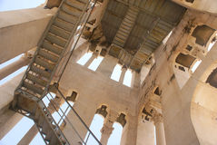 Bell tower of Split, Croatia, from the inside Stock Images