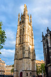 The bell tower of the St. Andrew Cathedral in Bordeaux, France Stock Image
