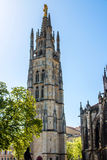 The bell tower of the St. Andrew Cathedral in Bordeaux, France Stock Photography