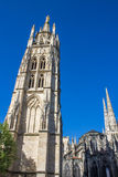 The bell tower of the St. Andrew Cathedral in Bordeaux, France Stock Images
