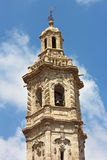 Bell tower of St Catalina church in Valencia, Spain. Royalty Free Stock Images