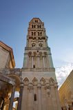 Bell tower of St. Duje cathedral. Royalty Free Stock Photos