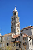 Bell tower of St. Duje cathedral Royalty Free Stock Photography